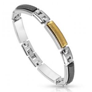 bracelet-acier-dore
