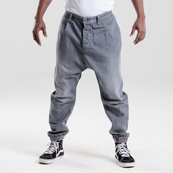 sarouel en jean gris